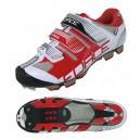FORCE FREE MTB kerékpáros cipő fehér-piros 38