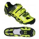 FORCE FREE MTB kerékpáros cipő fekete-fluo
