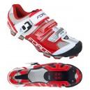FORCE HARD MTB kerékpáros cipő fehér-piros