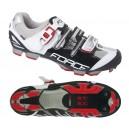 FORCE HARD MTB kerékpáros cipő fekete-fehér