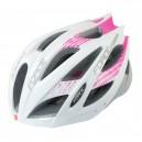 FORCE COBRA kerékpáros sisak fehér-rózsaszín-szürke S-M (54-59)
