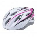 FORCE HAL kerékpáros sisak fehér-rózsaszín XS-S